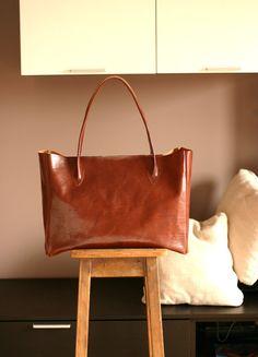 Handmade Leather  bag  Leather everyday bag by Creazionidiangelina (etsy)