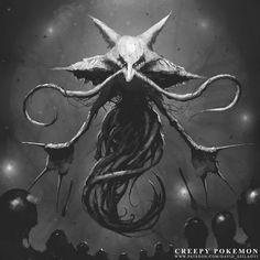 Alakazams evolve their psychokenesis to the point of mind controlling living and dead humans. Outposts claim to see Alakazam's human drones… Creepy Pokemon, Cool Pokemon, Pokemon Eevee, Creepy Drawings, Creepy Art, Creepy Stuff, Creepy Horror, Spooky Scary, Pokemon History