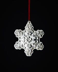 Towle Silversmiths 2013 Old Master Snowflake Christmas Ornament