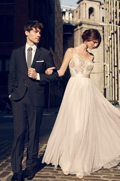 Classy Wedding// Love the gown from BHLDN//