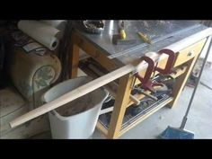 How to make a red oak longbow #7 shaping the handle - YouTube