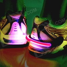 IDOMAX Bike Cycling Sports Shoes Wrist Safety Signal LED Light Clip - Black - From 9,95 for Euro 6,70