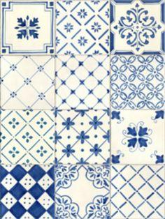 TILE: Vietri Bianco e Blue (White & Blue)