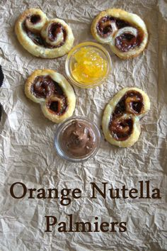 Orange Nutella Palmiers - a light flaky pastry filled with orange marmalade and Nutella!