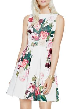 Vince Camuto - Rose Bouquet Fit & Flare Dress at Nordstrom Rack. Free Shipping on orders over $100.