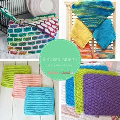 11 Dishcloth Patterns to Try New Stitches - Stitch and Unwind | Learn new knit stitches with these easy dishcloth patterns.