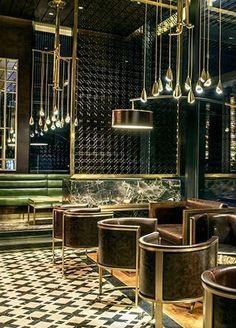 Glass restaurant design 9915 glass bar for Lighting for interior design malcolm innes