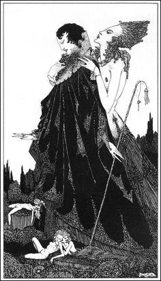 """thefugitivesaint: """"Гарри Кларк (1889-1931), из"""" Избранные стихотворения Суинбёрн """", 1928"""""""