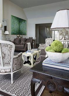 black+and+white+greek+key+rug-+jennifer+flanders+design.jpg (397×550)