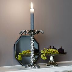 Simple and elegant  Palm tree candle holder