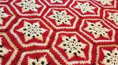 Crochet Scandinavian Snowflake Afghan - it's beautiful in pastel baby colours, too!