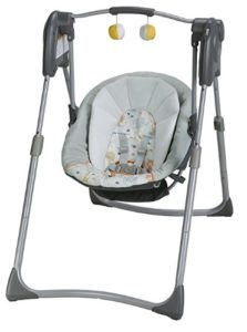Make room in your home for the Graco Slim Spaces Compact Swing. The space-saving design is ideal for smaller dwellings, and folds for storage when not in use. Height-adjustable legs all you to bring your baby closer to you, from sofa-height to full-size. Graco Baby Swing, Portable Baby Swing, Baby Swing Walmart, Swing Design, Baby Swings, Babies R Us, Reborn Babies, Adjustable Legs, Everything
