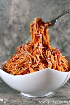 Bucatini all'Amatriciana ~ Simple recipe for classic pasta that will rock your world.