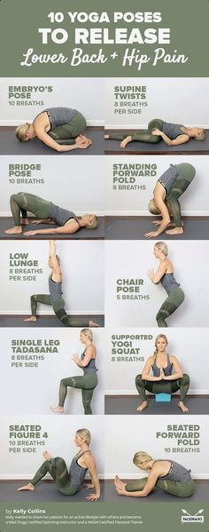 Get a Sexy Body Doing Yoga - Relieve lower back and hip pain with these yoga stretches. Get a Sexy Body Doing Yoga - Yoga Fitness. Introducing a breakthrough program that melts away flab and reshapes your body in as little as one hour a week! Yoga Fitness, Fitness Workouts, At Home Workouts, Fitness Motivation, Health Fitness, Yoga Workouts, Fitness Jokes, Cardio Yoga, Women's Health