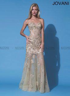Vestido de Festa Longo em Tule Bordado com Corselet Romana 91195 : Dstore Miami, Vestidos de Festa Importados