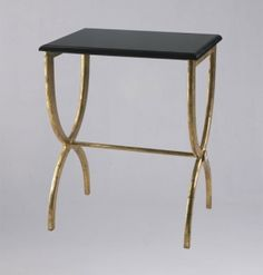 gold legged side table #home
