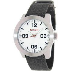 Nixon Men's Corporal A243100 Black Cloth Analog Quartz Watch