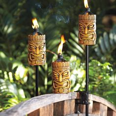 Oil Burning Tiki Torch