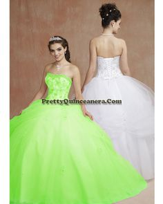 2010 Summer quinceanera dress,Fashionable Quinceanera Dresses 86067-9,discount designer quinceanera ball gowns,Clusters of beads trim the strapless neckline with embroidery decorating the bodice. Asymmetrically draped tulle over skirt on the ball gown with scattered appliqu¨¦s.br /