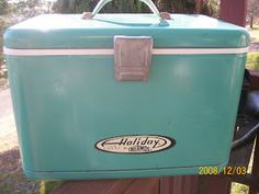 Classic . Coleman .Camping . Lanterns: Vintage Holiday Cooler By Thermos