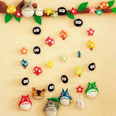 Di gull non-woven material diy handmade cloth bag Totoro family house door curtain hanging-tmall.com Lynx