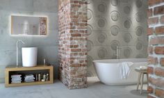 These new patterned concrete look tiles are already proving to be a big hit. They are sure to feature in many incredible bathrooms in the future!