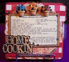jenny: Cricut Mini Albums: Home Cookin' -- I like the decorations she used for the pages.  Got to find that cricut cartridge.