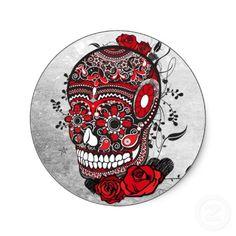 Resultados da Pesquisa de imagens do Google para http://rlv.zcache.com/sugar_skull_tattoo_design_mexican_illustration_sticker-p217580228097689321envb3_400.jpg