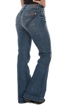 cdf12d5607 7 For All Mankind DOJO Lake Blue Tailorless Jean | Cavender's Rodeo  Outfits, Womens Jeans