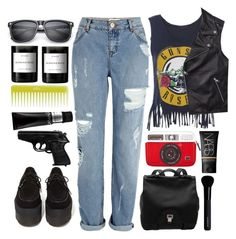 """""""#Guns N' Roses - November Rain"""" by credentovideos ❤ liked on Polyvore featuring Tommy Hilfiger, T.U.K., River Island, Byredo, Olive, TIGI, Proenza Schouler, NARS Cosmetics, Woouf! and Givenchy"""