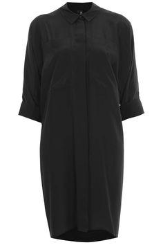 Silk Shirt Dress by Boutique - Shirt Dresses - Dresses - Clothing- Topshop USA