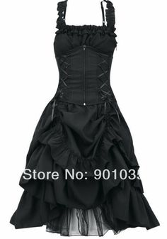 free shipping Poizen Industries Soul Dress Black Corset Punk Ladies Goth Gothlic…