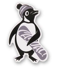 Casual Industrees Penguin Sticker- LOVE this