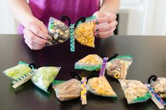 Create snack butterflies with decorated clothespins.
