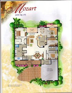The Classical Collection Mozart Floor Plan in Solivita, Kissimmee FL