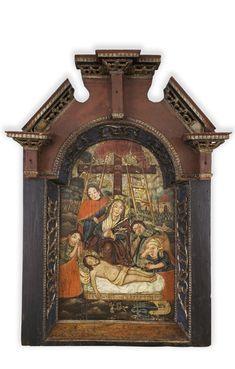 Twórca nieznany, Opłakiwanie Chrystusa (ikona)