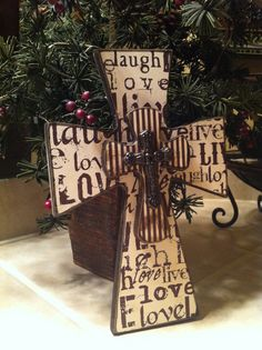Small Distressed Wood Cross by SignsBYDebbieHess on Etsy, $13.00