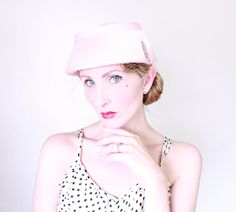 1950s Hat / VINTAGE / 50s Hat / Pink / Pastel / Birdcage Veil / Pearls / Bucket / EXCELLENT by HighHatCouture on Etsy