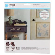 Use this classic stencil set with your favorite craft paint to create beautiful, painted designs on fabric, wood, glass and other surfaces. Featuring large floral and leaf patterns, this collection was specifically designed for furniture and home décor use.