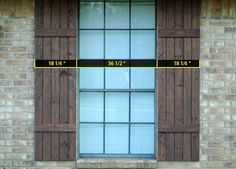 how to make shutters - Google Search