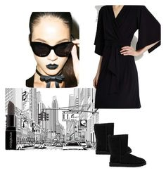 """-City-"" by margot-25 on Polyvore featuring moda, Cheap Monday, UGG Australia, Smashbox, Wallis, women's clothing, women's fashion, women, female e woman"