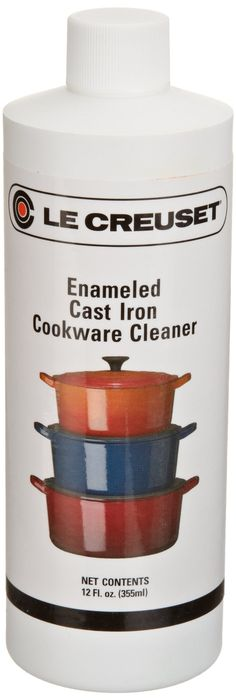 Le Creuset 12-Ounce Enameled Cast-Iron Cleaner. A must have for your pans