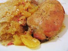 Kuřecí stehna na zelí Crockpot, Slow Cooker, Pork, Meat, Chicken, Cooking, Detail, Kale Stir Fry, Kitchen