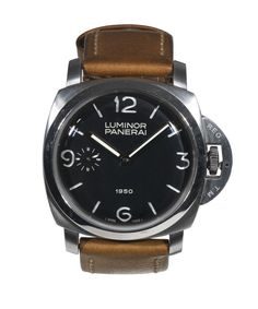 Panerai Stainless Steel Luminor 1950 Wristwatch PAM 127 circa 2002 | From a unique collection of vintage wrist watches at http://www.1stdibs.com/jewelry/watches/wrist-watches/