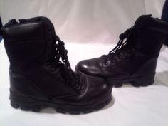 "Bates 8"" Boots, Black - Enforcer Series, Men Size 8, Steel Toe, Side Side Zip #Bates #Boots"