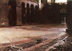 John Singer Sargent - Pavement of St. Mark's, Venice, ca. 1880/82
