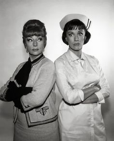 "Agnes Moorehead and Eve Arden.  ""Grandma-ma vs the maternity ward nurse"" from the episode where Samantha gave birth to Tabitha.  What's funny is, in real life, they were friends!"