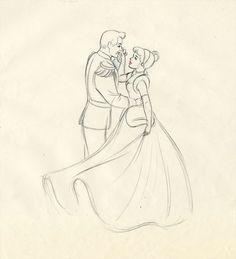 Disney Concept Art - Prince Charming and Cinderella