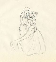 Disney Concept Art - Prince Charming and Cinderella