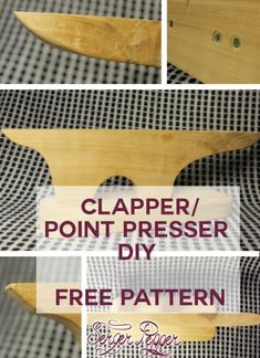 How to make your point presser – tailor's clapper: a FREE pattern for constructing your own - only on SergerPepper.com